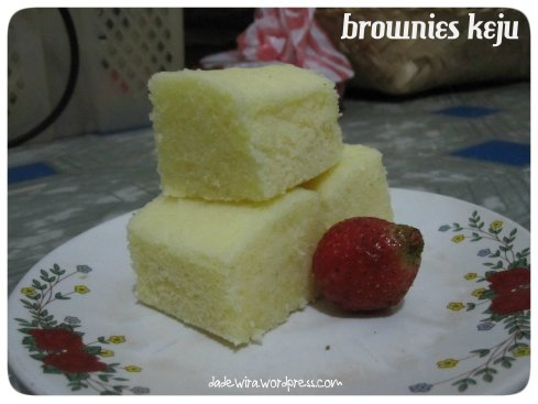 brownies keju (gluten free and no food additives)